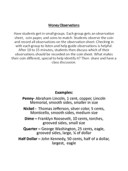 Money Observations