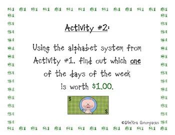 """Money:  """"One Dollar Word Activities"""""""