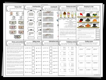 Money Pack – 20 printables (Measurement & Data)