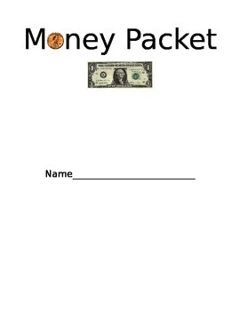 Money Packet Cover Sheet
