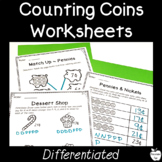 Counting Money Worksheets ~ Count Coins ~ 1st/2nd Grade