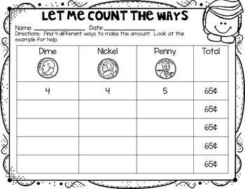 Money (Pennies, Nickels, and Dimes) Printables FREEBIE EDITION