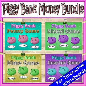Money Penny, Nickel, Dime, Quarter PowerPoint Game Bundle