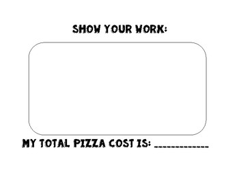Money Pizza - Adding Money Amounts