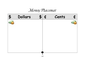 Money Place Mat