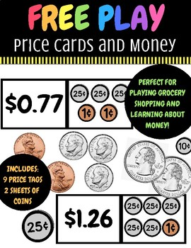 Money Play {Grocery Shopping, Learning about Money, Free Play, Counting}