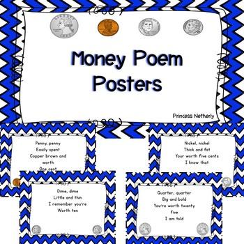 Money Poem Posters Freebie