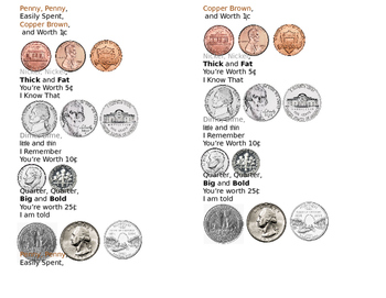 Money Poem with Coin Pictures