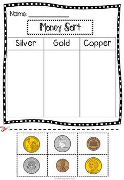 Money Posters and Sorting Worksheets