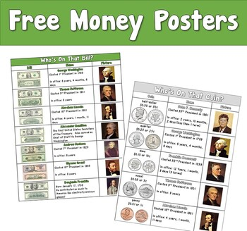 Free Money Posters