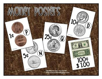 Money Posters (Heads, Tails, Value of Coin)