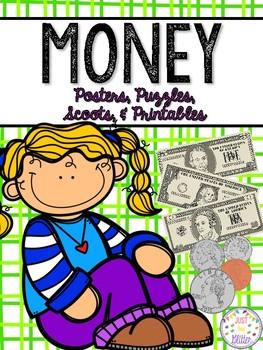 Money - Posters, Puzzles, Scoots, & Printables