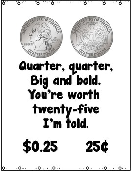 Money Posters and Number Word Freebie