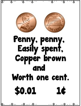 Coin Poem Posters and Number Word Freebie