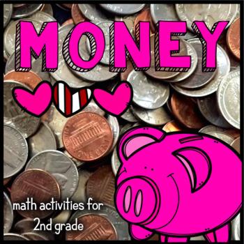 Money Practice - 2nd Grade Math - Change, Dollars, Cents, Valentine's Day