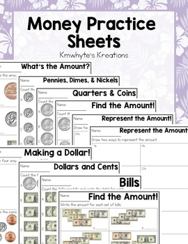 Money Practice Sheets & Quizzes