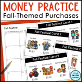 Money Practice Worksheets for Fall | Shopping Practice in