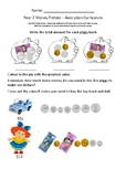 Money Pretest - Year 2 Australian Curriclum