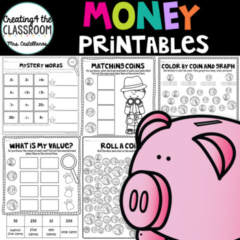 Money Printables {Money Worksheets}