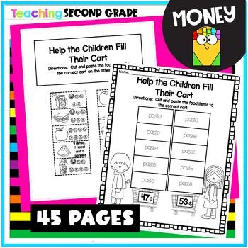 money worksheets by teaching second grade teachers pay teachers. Black Bedroom Furniture Sets. Home Design Ideas