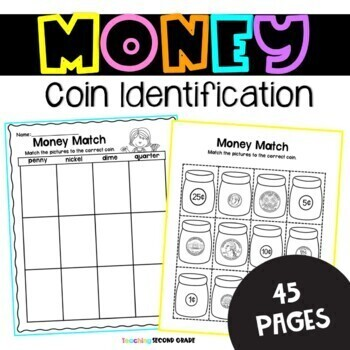 money worksheets counting coins by teaching second grade