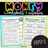 Money Worksheets   Counting Coins Distance Learning Packet