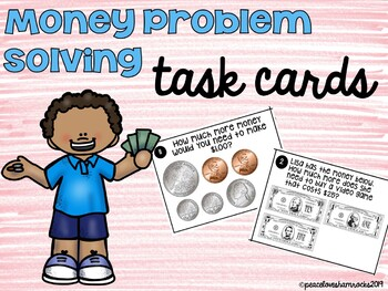 Money Problem Solving Task Cards