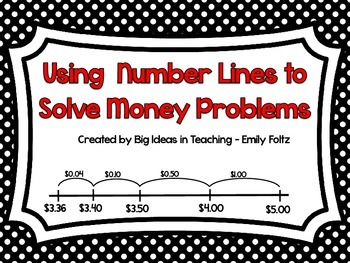 Money Problem Solving Using A Number Line...NEAT!!!