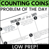 Second Grade Money Counting Coins Worksheets