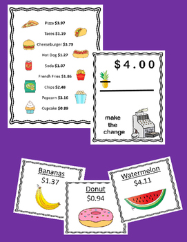 Money & Purchasing Task Cards