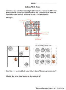 Money Worksheets, Games, and Puzzles to Engage Gifted and Talented Students