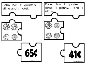 Money Puzzles (Counting Coins)