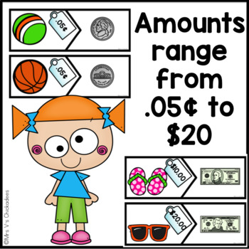 Money Puzzles Center: Pennies, Nickels, Dimes, Quarters, Dollars & Combinations