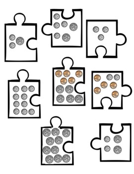 Money Puzzles--Counting Coins Practice