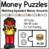 Money Puzzles - Counting Coins and Using Dollar Signs