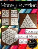 Money Puzzles - Counting Coins - Like & Mixed Coins Versions