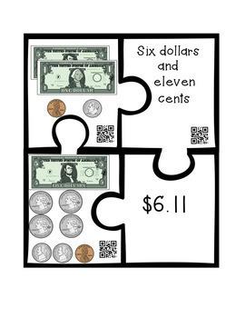Money Puzzles - Matching Equivalent Money Amounts Set 1