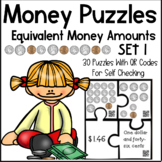 Money Puzzles - Matching Equivalent Money Amounts Set 1