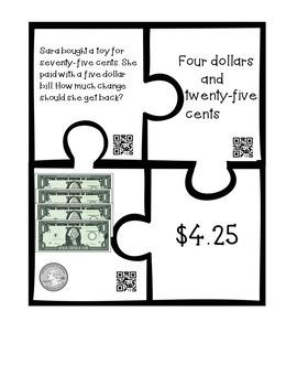 Money Puzzles - Matching Equivalent Money Amounts Set 2