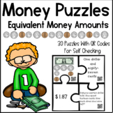 Money Puzzles - Matching Equivalent Money Amounts with WORD PROBLEMS!