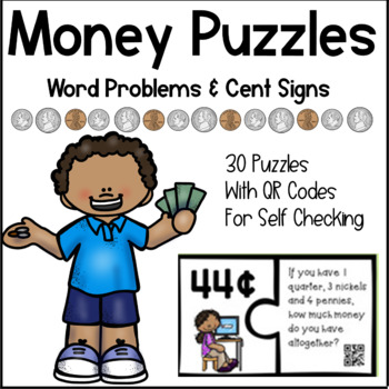 Money Puzzles - Solving Coin Word Problems Using Cent Signs