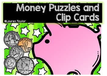 Money Puzzles and Clip Cards