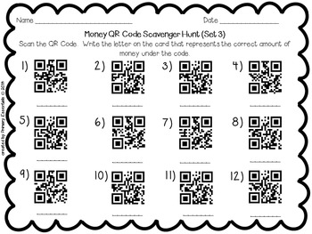 Money QR Code Scavenger Hunt