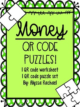 Money QR Code puzzle worksheet and center