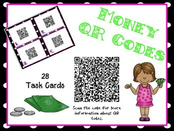 Money Task Cards with QR Codes