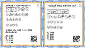 Money QR Task Cards- 2nd/3rd grade