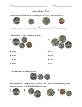 Money Quiz - Coins