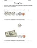 Money Quiz Indiana Standards