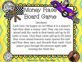 Money Race Board Game {Pennies, Nickels, Dimes, and Quarters}
