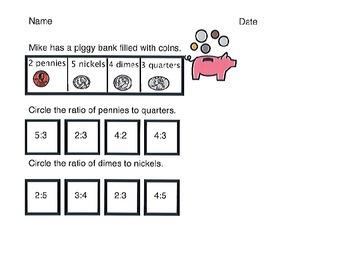 Money Ratio Worksheet.